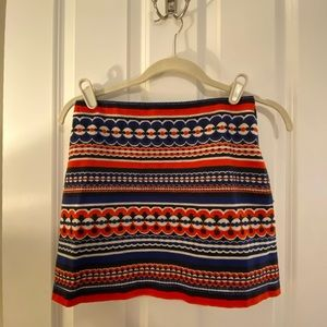 Red and blue Milly skirt | 0